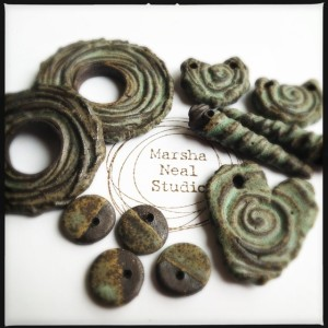 Marsha Neal Studio Matte Green Pieces