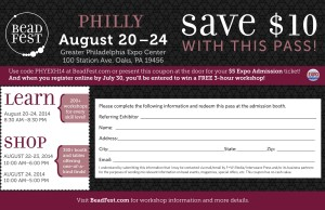 Bead Fest Philly 2014 Coupon