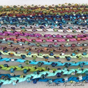 Marsha Neal Studio Beaded Silk Braid Bracelets