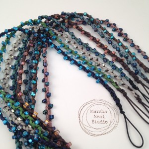 Marsha Neal Studio Beaded Silk Bracelet Cords