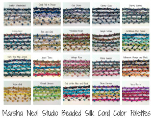 Beaded Silk Cord Color Palettes by Marsha Neal Studio