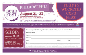 Print this pass and pay $5 for your Bead Fest Weekend Pass!
