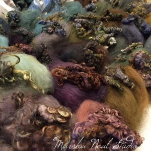 As I worked on the custom blends I was also taking time to match up the Zombie locks with the custom blended Merino.
