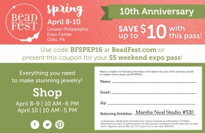 Copy and print this image for your $5 weekend Bead Fest 2016 Spring Pass.