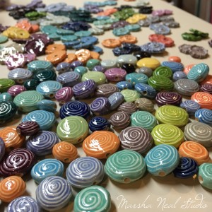 Porcelain Spiral Beads